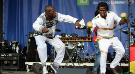 Machété et Boubacar Camara, des Espoirs de Coronthie. © Marie Mbodji, tous droits réservés.