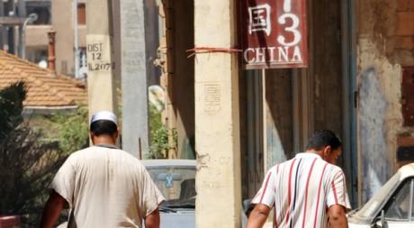 Un panneau chinois à Bab Ezzouar (15 km d'Alger), le 5 août 2009. AFP PHOTO/FAYEZ NURELDINE