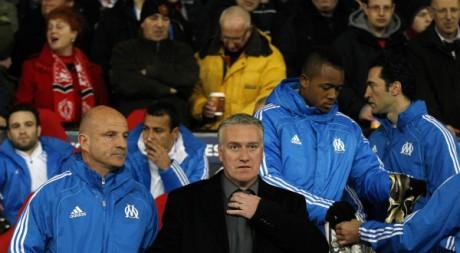 Didier Deschamps, l'entraîneur de l'Olympique de Marseille, le 15 mars 2011.