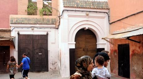 Le riad de DSK à Marrakech, au Maroc, le 23 septembre 2011. AFP/ABDELHAK SENNA