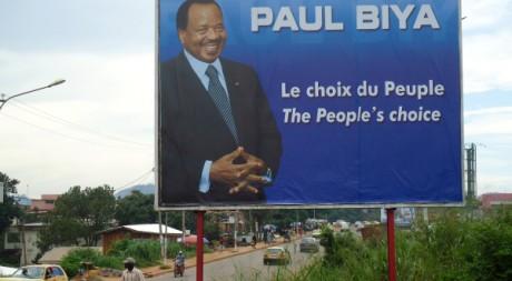 Campagne électorale de Paul Biya à Yaoundé, le 24 septembre 2011. © AFP / STR
