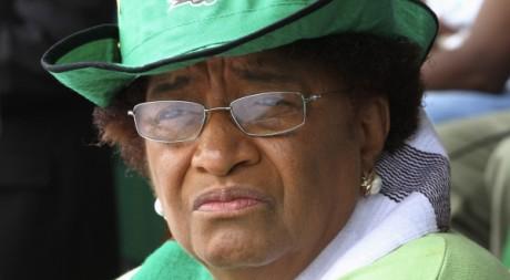 La présidente Ellen Johnson-Sirleaf à Monrovia le 9 octobre 2011. REUTERS/Luc Gnago