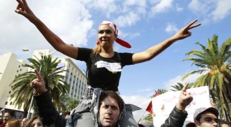 Manifestation à Tunis, le 16 octobre 2011. REUTERS/ Zoubeir Souissi