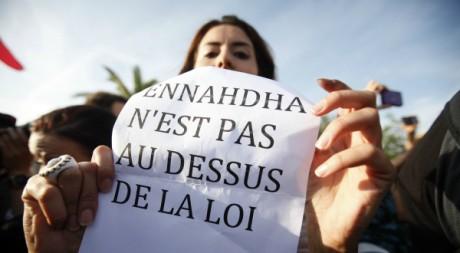 Manifestation le 25 octobre dernier contre le parti Ennahda. Reuters/Zohra Bensemra
