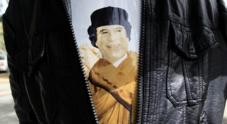 L'effigie de Kadhafi. Reuters/Ahmed Jadallah