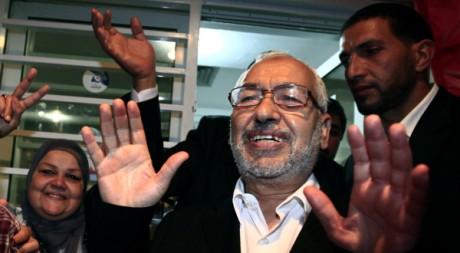 Rachid Ghannouchi, le leader d'Ennahda, le 27 octobre 2011, à Tunis. REUTERS/Zohra Bensemra