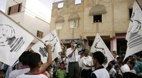 Manifestation du parti islamiste PJD à Fès, le 9 juin 2009. REUTERS/Rafael Marchante
