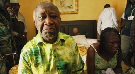 Laurent Gbagbo, le 11 avril 2011 à Abidjan, lors de son arrestation. REUTERS