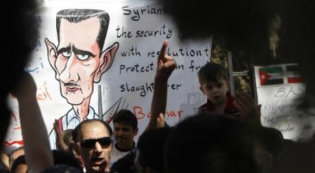 Manifestation de Syriens en Jordanie le 15 octobre 2011. Reuters/Ali Jarekji