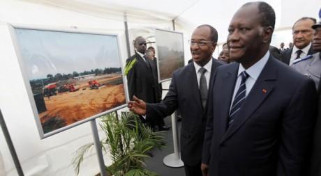 Le président Alassane Ouattara le 22 octobre 2011 à Abidjan. REUTERS /Thierry Gouegnon