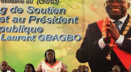 Simone Gbagbo, le 15 janvier 2011 à Abidjan. REUTERS/Thierry Gouegnon