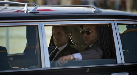 Visite du président français Nicolas Sarkozy à Tanger le 29 septembre 2011. AFP/LIONEL BONAVENTURE