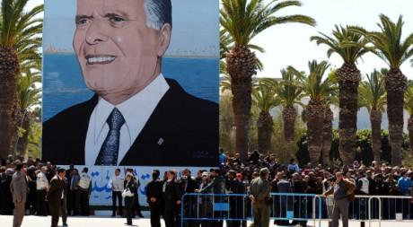 Anniversaire des onze ans de la mort de l'ancien président Habib Bourguiba , Monastir, 6 avril 2011. AFP PHOTO/Fethi Belaid