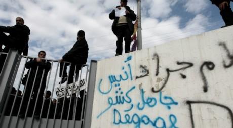 Manifestation d'ouvriers tunisiens, janvier 2011 © REUTERS/Zohra Bensemra