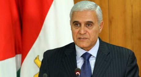 Mourad Mouafi prononce un discours le 4 mai 2011, au Caire. AFP PHOTO / KHALED DESOUKI