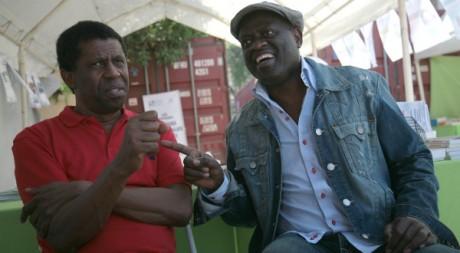 Alain Mabanckou et Dany Laferrière au festival Etonnants voyageurs. ©Gaël Le Ny/Etonnants Voyageurs