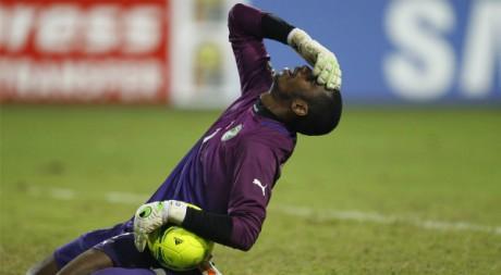 La Côte d'Ivoire du gardien Kopa Barry vient de perdre la finale de la CAN. REUTERS/Louafi Larbi.
