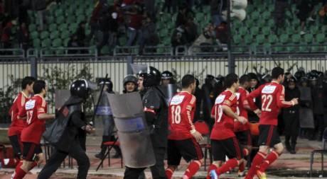 Le club d'Al Ahli, le soir du drame de Port-Saïd, le 1er février 2012. REUTERS/Stringer.