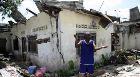 Des centaines de maisons ont été détruites à Brazzaville, le 4 mars. AFP/