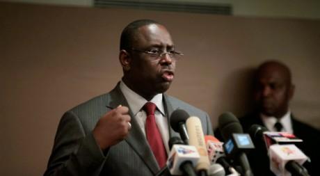 Conférence de presse de Macky Sall à Dakar le 29 février. Stringer . / Reuters