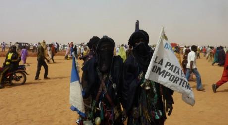 Des ex-rebelles touareg à Arlit le 22 janvier 2012. AFP/Boureima HAMA