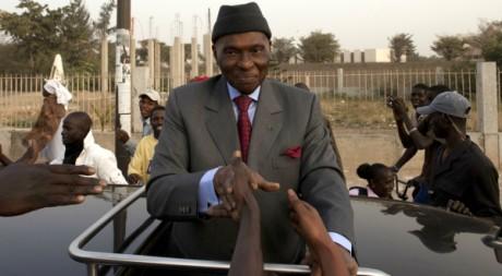 Abdoulaye Wade durant sa campagne électorale, le 7 février 2012 à Dakar. REUTERS/Joe Penney