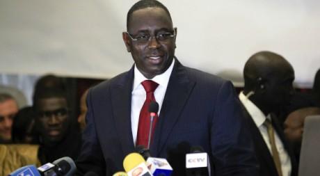 Macky Sall lors d'une conférence de presse à Dakar le 26 mars 2012. Reuters/Stringer