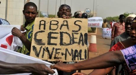 Manifestation de soutien à la junte, aéroport de Bamako, 29 mars 2012 ISSOUF SANOGO/AFP
