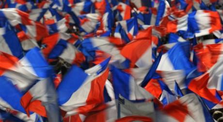 Des drapeaux français flottant lors d'un meeting électoral, mars 2012. ©REUTERS/Philippe Wojazer
