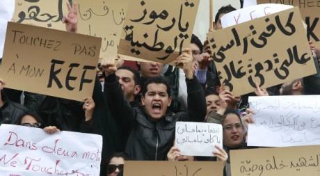 Manifestation d'étudiants de Kef, Tunis, 9 février 2011. REUTERS/Louafi Larbi