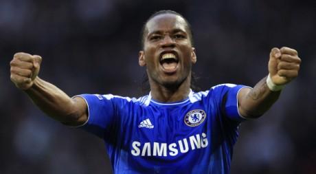 Didier Drogba, le 15 avril 2012. REUTERS/Eddie Keogh