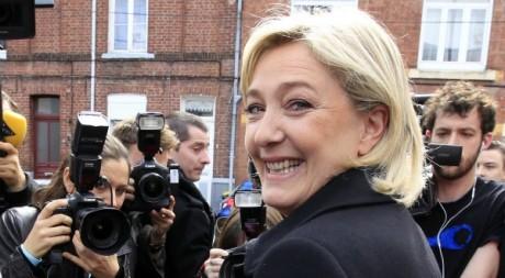 Marine Le Pen le 24 mars 2012 à Henin-Beaumont (Nord de la France). REUTERS/Pascal Rossignol