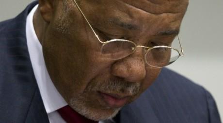 Charles Taylor le 26 avril 2012 à La Haye. REUTERS.