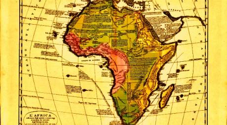 Carte du continent datant de 1830 par Emmanuel de Las Cases