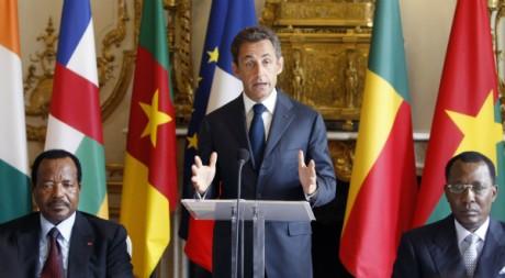 Nicolas Sarkozy recevant des chefs d'Etats africains, Elysée, 13 juillet 2010 AFP/ Pool / Rémy de la Mauvinière