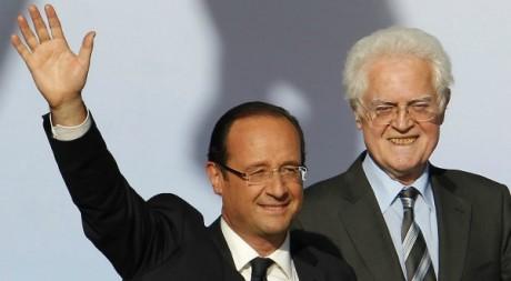 François Hollande et Lionel Jospin à Toulouse le 3 mai 2012. REUTERS/Regis Duvignau