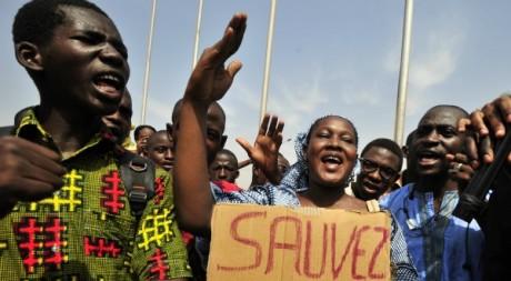 Manifestation de jeunes Maliens à Bamako le 6 avril 2012. AFP/ISSOUF SANOGO