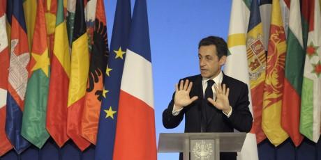 Nicolas Sarkozy, à l'occasion de la journée de la francophonie, le 20 mars 2010. Reuters/POOL News