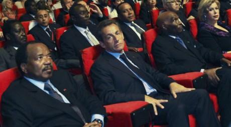 Le président français Sarkozy à l'inauguration du président ivoirien Ouattara, Yamoussoukro, 21 mai 2011. REUTERS/Luc Gnago