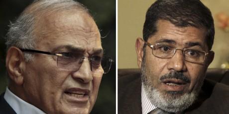 Ahmed Chafiq (à gauche), ou Mohammed Morsi (à droite)? Pour qui voteraient les Algériens? REUTERS