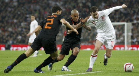 Match amical Angleterre - Pays-Bas, 29 février 2012, Wembley, Londres. REUTERS/Eddie Keogh
