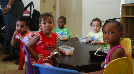 Les enfants de la crèche de Fayda à Tel Aviv. ©Ekia Badou