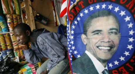 Une effigie de Barack Obama àAccra, au Ghana, juillet 2009. © REUTERS/Luc Gnago
