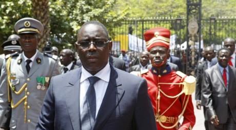 Macky Sall, arrivant au palais présidentiel de Dakar, après son investiture le 2 avril 2012 © REUTERS/Joe Penney