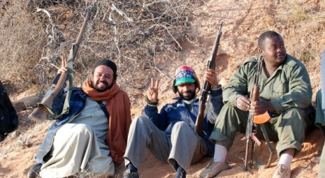 Des combattants libyens à Zintan, avril 2011 © Borni Hichem/ AFP