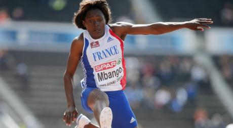 François Mbango lors des championnats d'athlétisme d'Helsinki, juin 2012. © REUTERS/Dominic Ebenbic