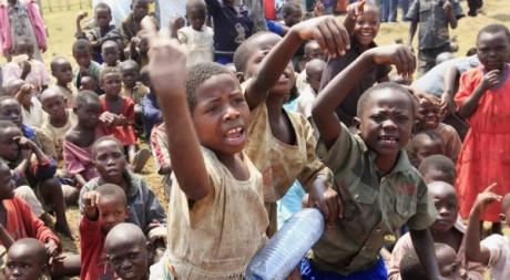 Enfants déplacés après les conflits dans le Nord-Kivu, juillet 2012. © REUTERS/James Akena