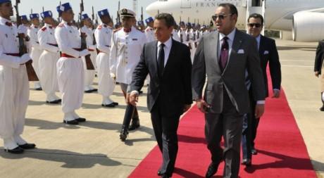 Mohammed VI et Nicolas Sarkozy à Tanger le 29 septembre 2011. REUTERS/Philippe Wojazer