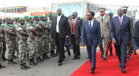 Le retour du président Dioncounda Traoré à Bamako, 28 juillet 2012, AFP PHOTO/Habibou Kouyaté