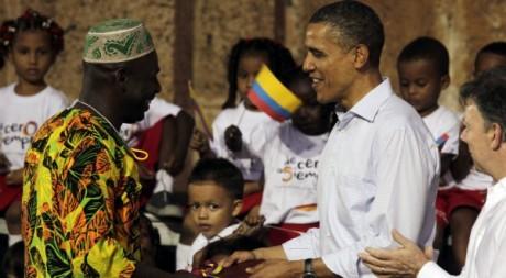 Salgado, leader de la communauté des descendants d'esclaves reçoit un titre de la part de Barack Obama. Reuters/Ricardo Moraes